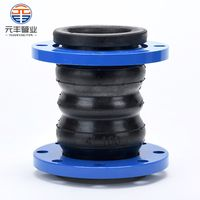 Carbon steel double ball twin sphere flanged rubber joint