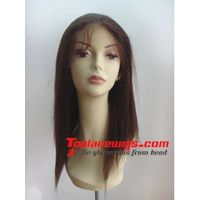 Stock 14 inch Yaki Indian Remy Human Hair Lace Front Wigs
