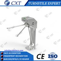 Slim Tripod Turnstile for pedestrian passthru ,good price vertical three arm turnstile for access
