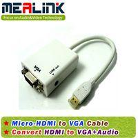 Micro HDMI to VGA+3.5mm Audio Cable thumbnail image