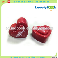 Small Heart-shaped Recordable Sound Chip for Stuffed Toy and Doll