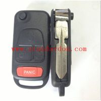 UNCUT FOUR TRACK FLIP KEY FOR MERCEDES BENZ REMOTE / REPLACEMENT / TRANSPONDER KEY FOR AMG C CL ML