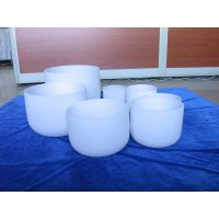 Arts and Crafts frosted singing bowl one set from 6inch to 12inch