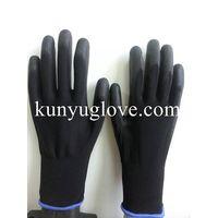 13 gauge polyester liner safety glove pu coated gloves construction gloves
