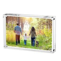 Factory Wholesale Price Transparent Acrylic Magnets Photo Frames Stand Pictures Frame