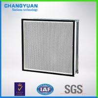 HEPA filter, H14 effency, fiberglass media air filter for cleanroom thumbnail image