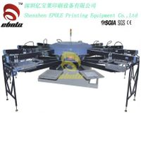 Automatic Rotary table Textile  Screen Printer