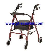 RW001-A FDA CE Foldable Aluminum rolling walker rollator