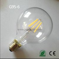 LED FILAMENT LAMP G95-8 with CE and ROHS
