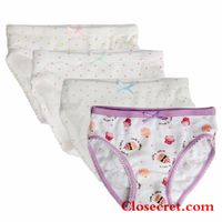 Closecret Kids Series Comfy Cotton Baby Underwear Little Girls' Assorted Briefs Panties with Bow-kno thumbnail image