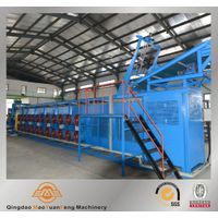 Batch off cooling line for tire producing plant