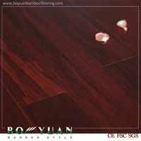 BY red stained high density strand woven bamboo flooring