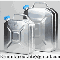 Aluminum Jerry Can Fuel Petrol Diesel Tank Portable Oil Water Container With Screw Cap thumbnail image