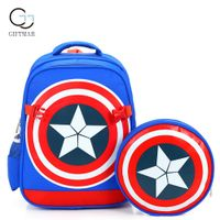 Wholesale The Avengers kid school backpack with detachable small bag, child school bag