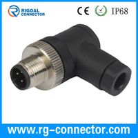 m12 right angle 4pins male assembly connector with PG9