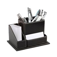 PU Leather Office Organizers Supplier for Desk Pen Holders
