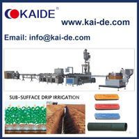 PC flat drip irrigation pipe making machine