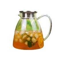Handcraft Teapot Heat Resistant Glass Tea jug Bamboo Lid Heat Resistant glass Strainer Glass teapot