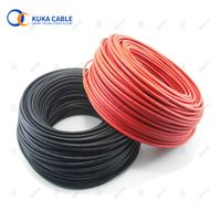 Red or black TUV customized pv f solar dc power supply cables cable 4mm