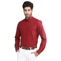 MAROON FILAFIL COTTON SHIRT