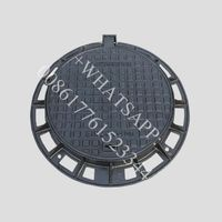 EN124 D400 round ductile iron heavy duty locking inspection manhole cover and ring