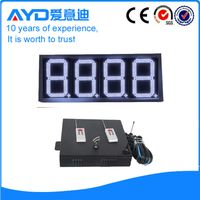 Waterproof 12 inch 7 segment led display petrol station price sign