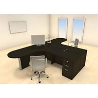 Two Persons Modern Executive Office Workstation Desk Set, CH-AMB