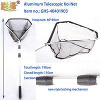 Aquarium net with telescopic aluminum handle