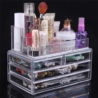 Clear 4 Drawer Acrylic Makeup Display Organizer For Wholesale