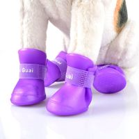 Dog rain shoes with brand logo