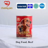 Top Quality beef flavour canned dog food for sale