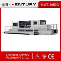 MWZ1650G lead edge feeder Automatic cardboard die cutting machine with stripping section