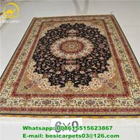 6x9ft handmade silk carpet 230lines high quality persian silk carpet