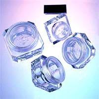 Cosmetic Packaging - Plastic Octagonal / Square Powder Jars thumbnail image