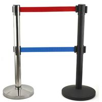 different color powder-coated painting crowd control retractable barrier,queue control barrier thumbnail image