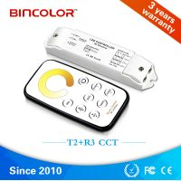 Hot selling T2 R3 Mini CCT dimming LED light controller with RF touch remote control