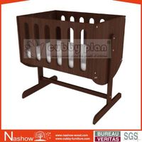 Cubby Plan LMNB-002 Good Quality 2 in 1 Wooden Baby Bassinet