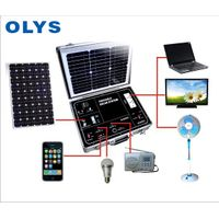 Portable solar generator, solar home emergency power system