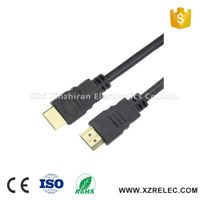 Gold Connectors Black 28AWG with Ethernet Male/Male HDMI Cable