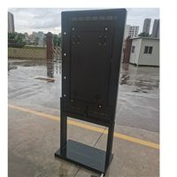 32 inch thermal android floor standing digital display touch screen recognition access control thumbnail image
