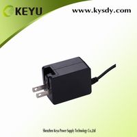 5v 1a 2a fixed cable power adapter with folding US ac plug and interchangeable plug EU AU UK thumbnail image