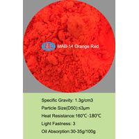 MAB-14 orange red Fluorescent Pigment for printing ink