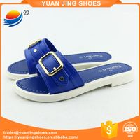 Beautiful Buckle Open Toe Slide Slippers for Women