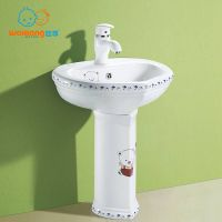 [Waxiang Ceramics WB-2200] Children's Lavatory Pedestal Sink White China Wash Station,for children