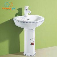 [Waxiang Ceramics WB-2200] Children's Lavatory Pedestal Sink White China Wash Station,for children