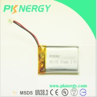 Ce UL MSDS Certificated Rechargeable Li-Po Battery 552035 350mAh 3.7V thumbnail image