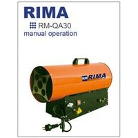 Industrial gas heater 30kw 50kw manual operation / automatic operation