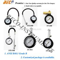 dial larger display tire air pressure gauge with hose or not