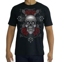 High Quality Cotton Printed T-shirt - TATTOO - SKULL & ROSES