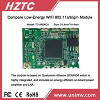 latest Atheros 4004 mini size low power consumption intelligent home hardware wifi module